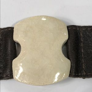 dandy Jewelry - Dandy Leather Cuff with White Stone